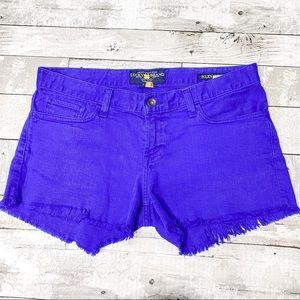 Lucky brand Riley cut off shorts cobalt blue